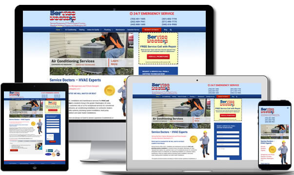 HVAC Web Design Chantilly