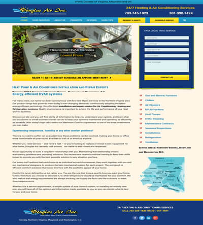 Hvac Website Design Northern Virginia Netqwik Web Design Company