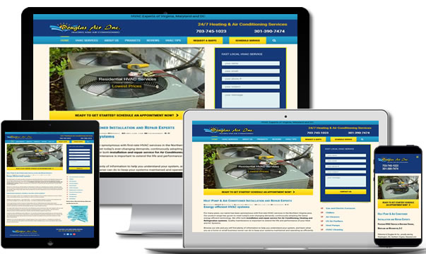 HVAC Website Design Northern Virginia